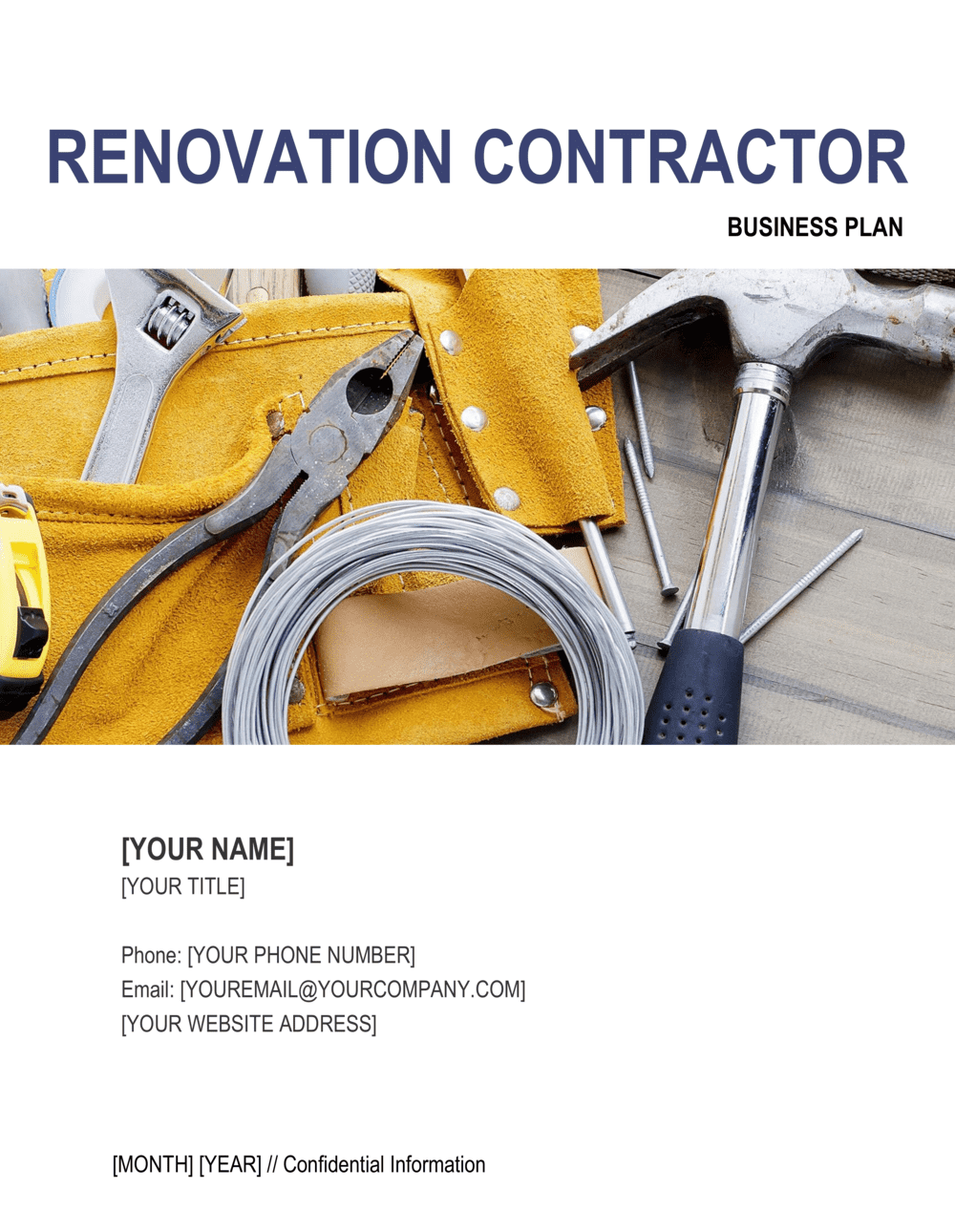Business-in-a-Box's Renovation Contractor Business Plan Template