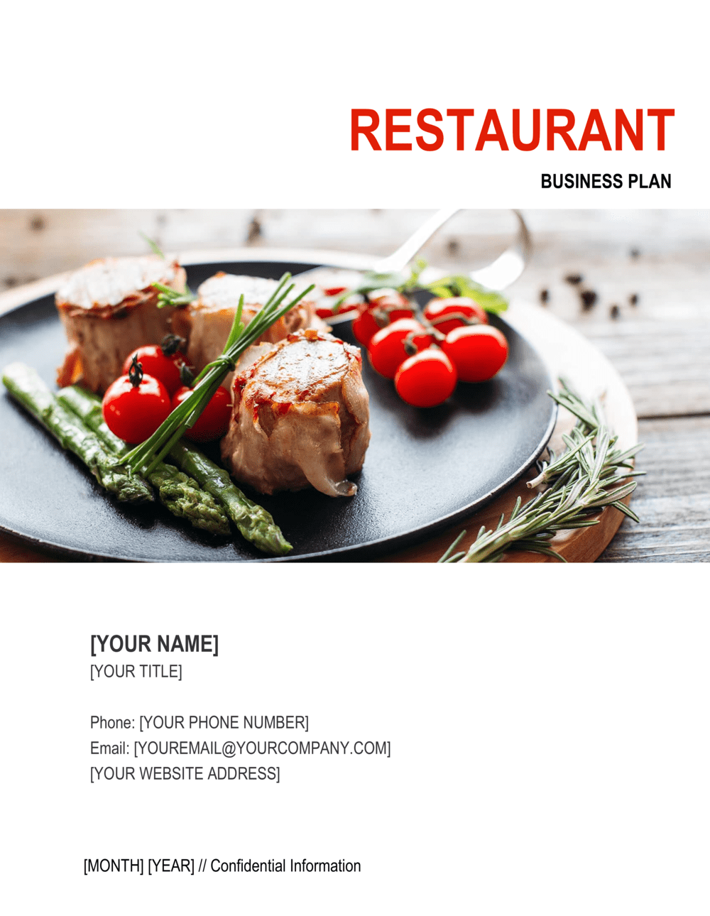 Business-in-a-Box's Restaurant Business Plan 2 Template