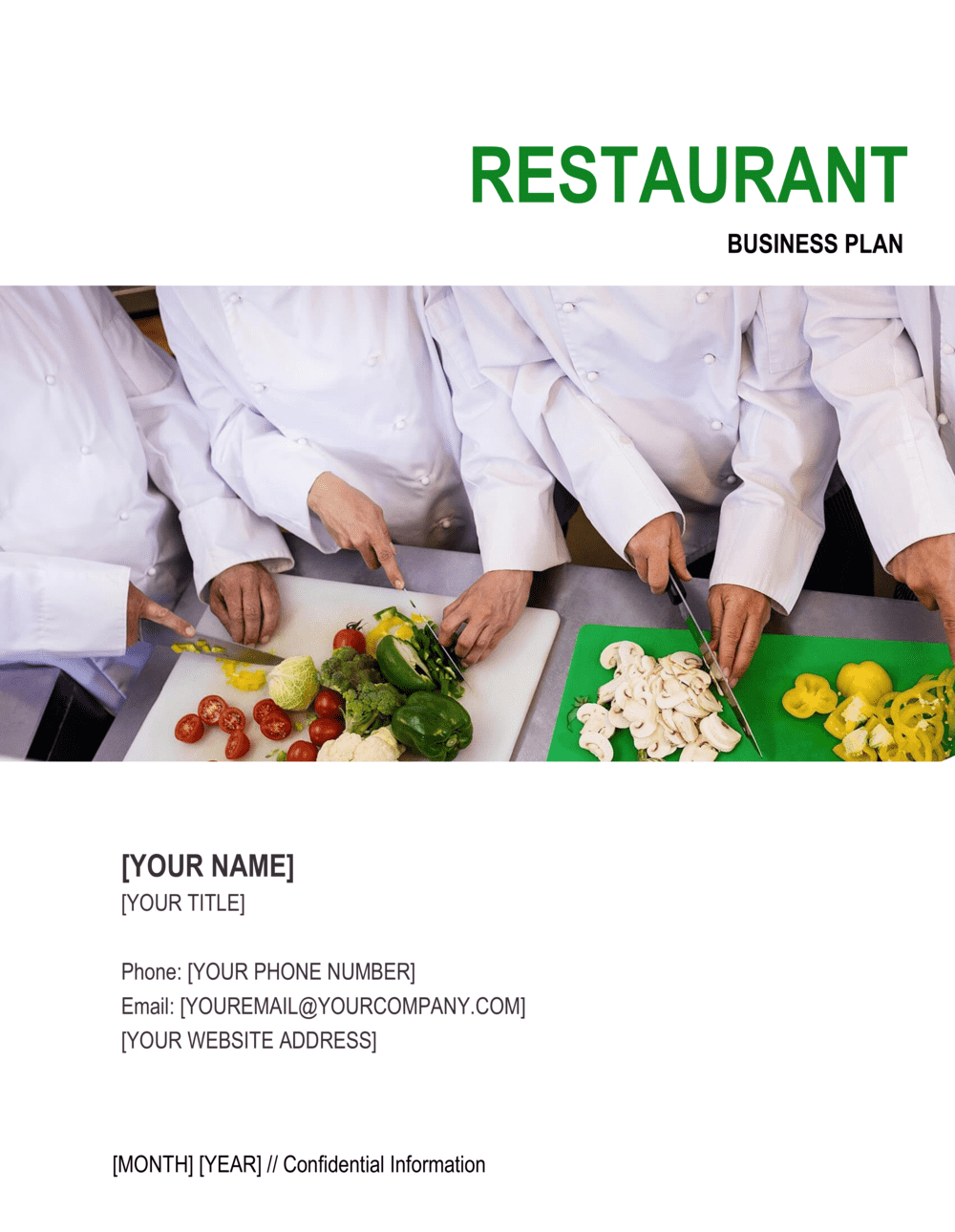 Business-in-a-Box's Restaurant Business Plan 4 Template