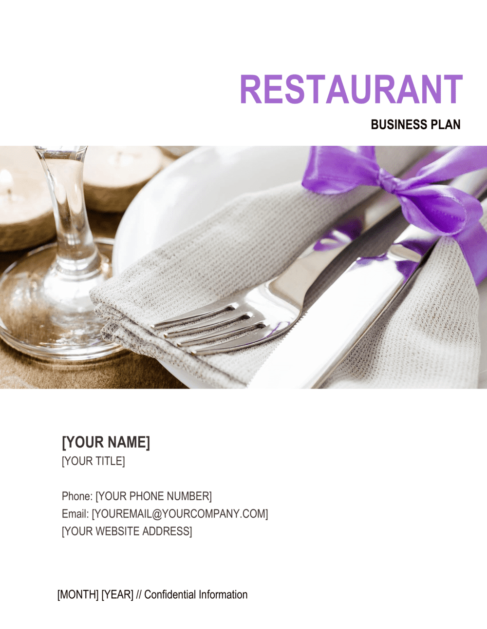 Business-in-a-Box's Restaurant Business Plan 5 Template