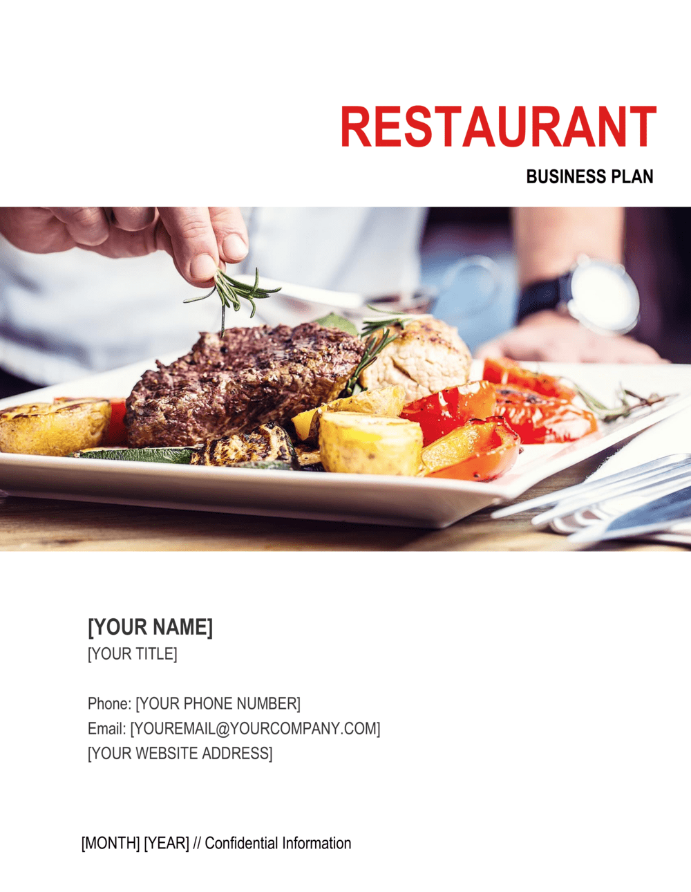 Business-in-a-Box's Restaurant Business Plan 6 Template