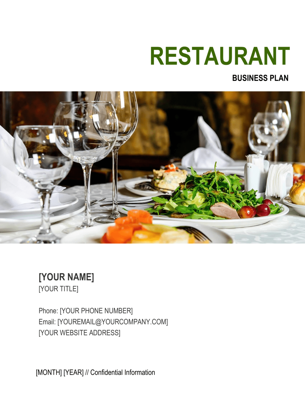 Business-in-a-Box's Restaurant Business Plan Template