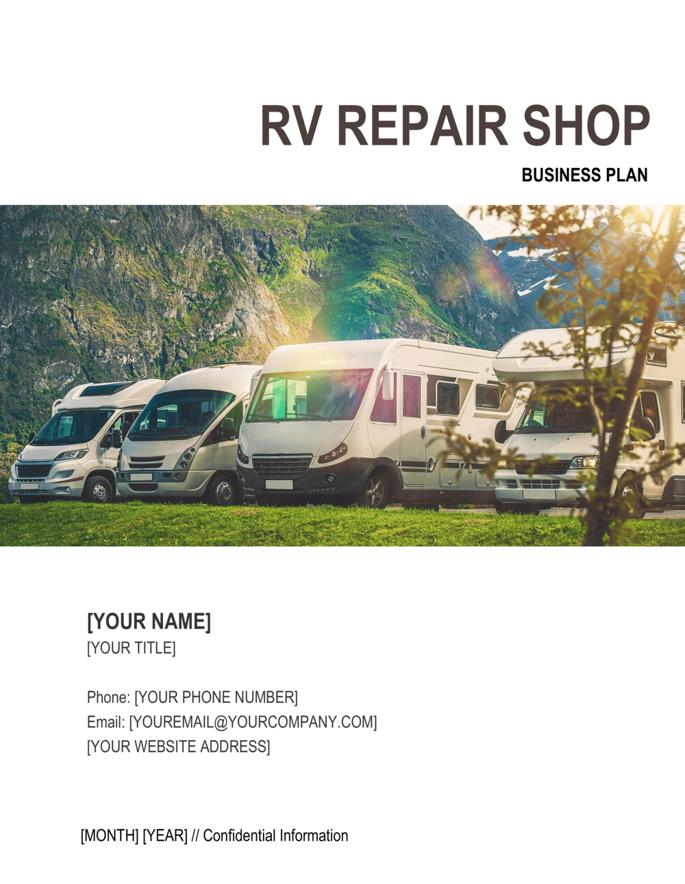 Business-in-a-Box's RV Repair Shop Business Plan Template