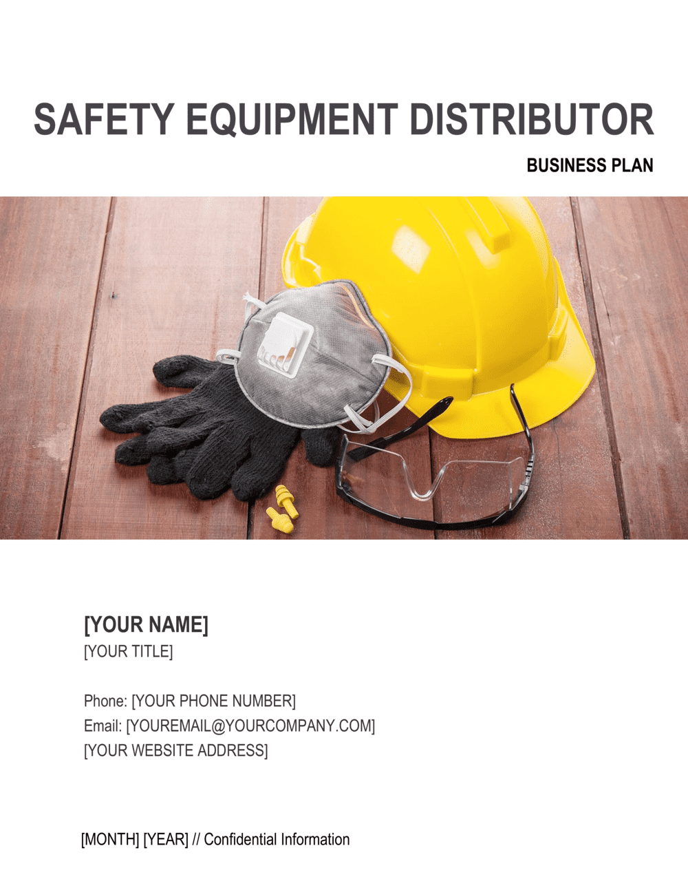 Business-in-a-Box's Safety Equipment Distributor Business Plan Template