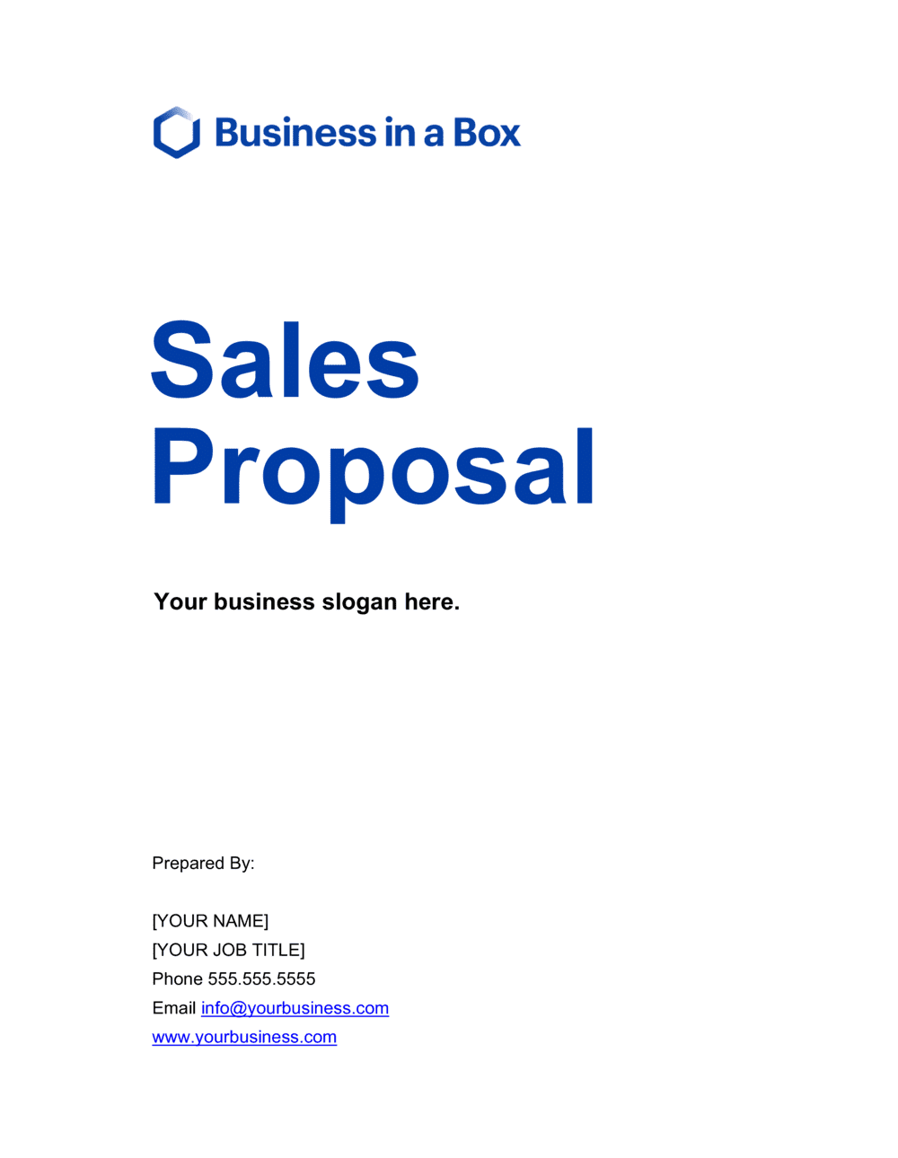 Business-in-a-Box's Sales Proposal Template