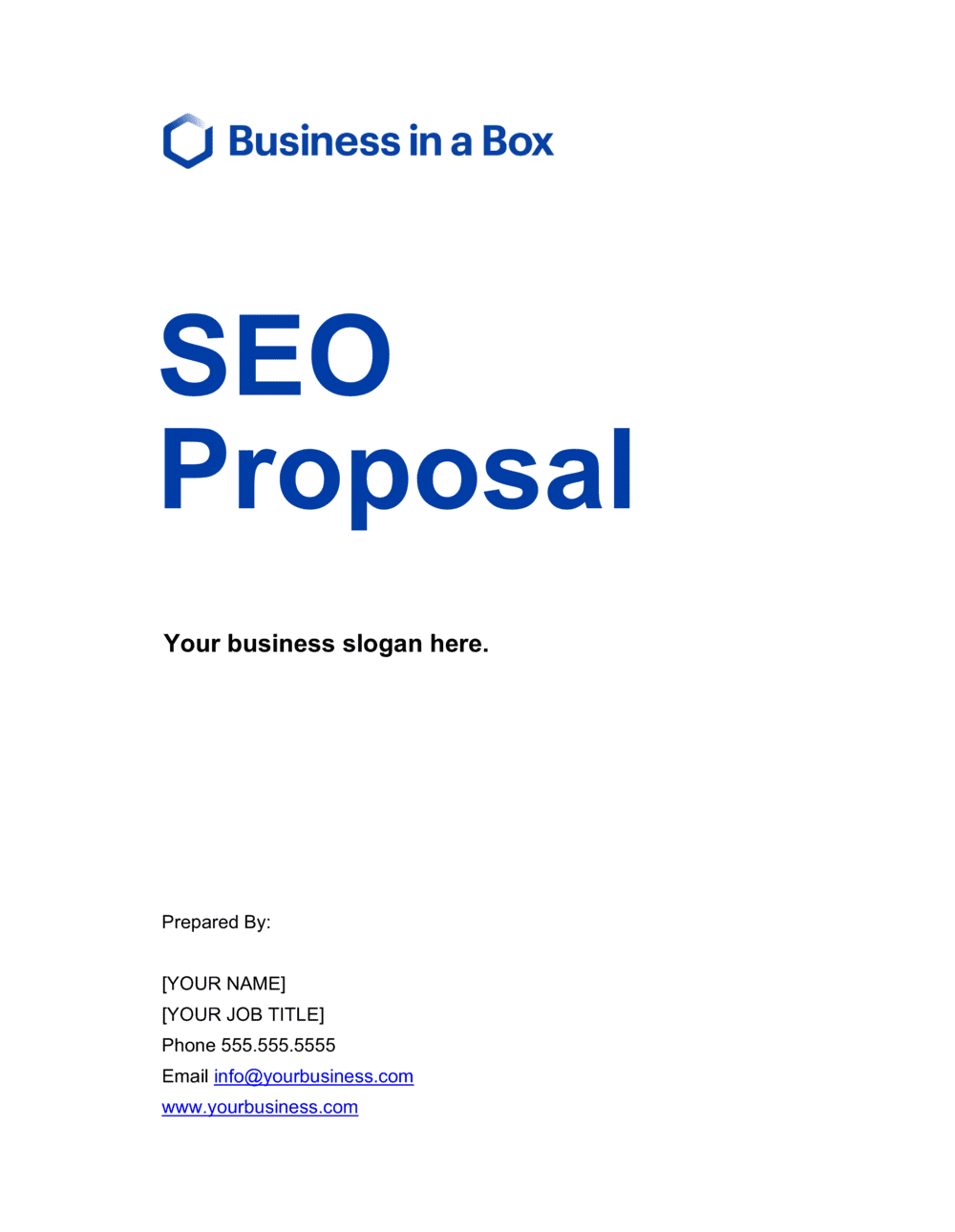 Business-in-a-Box's SEO Proposal Template