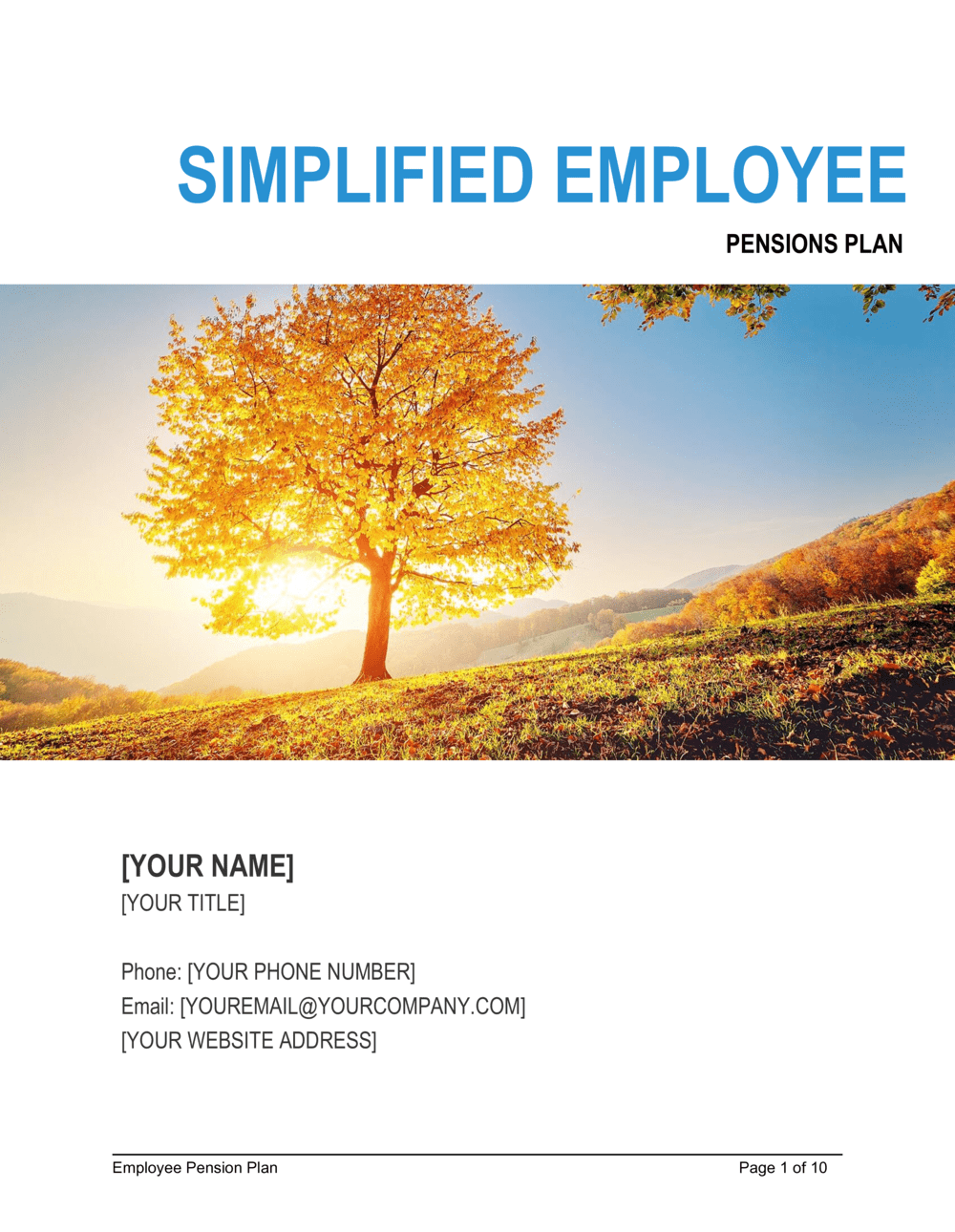 Business-in-a-Box's Simplified Employee Pensions Plan Template
