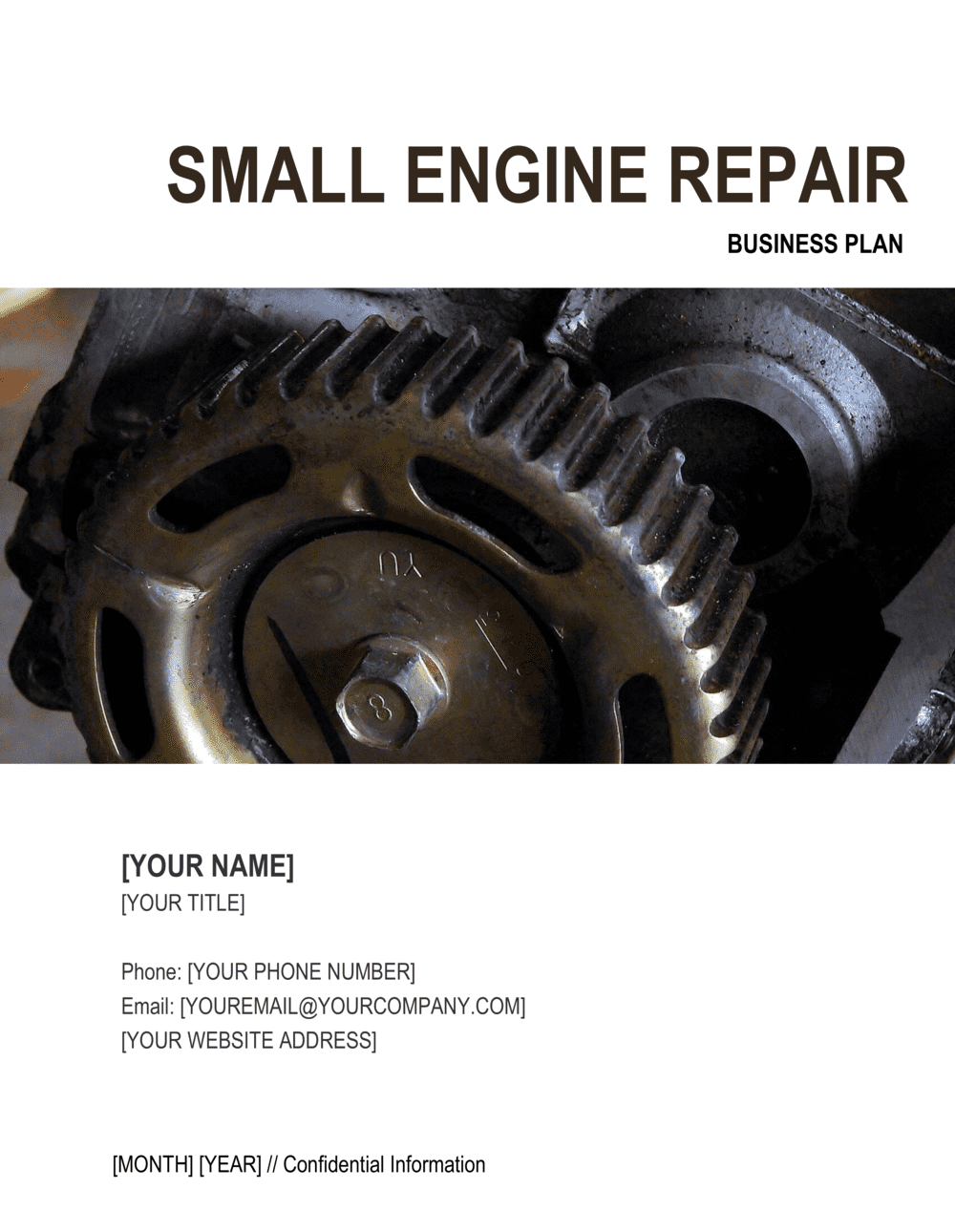 Business-in-a-Box's Small Engine Repair Business Plan Template