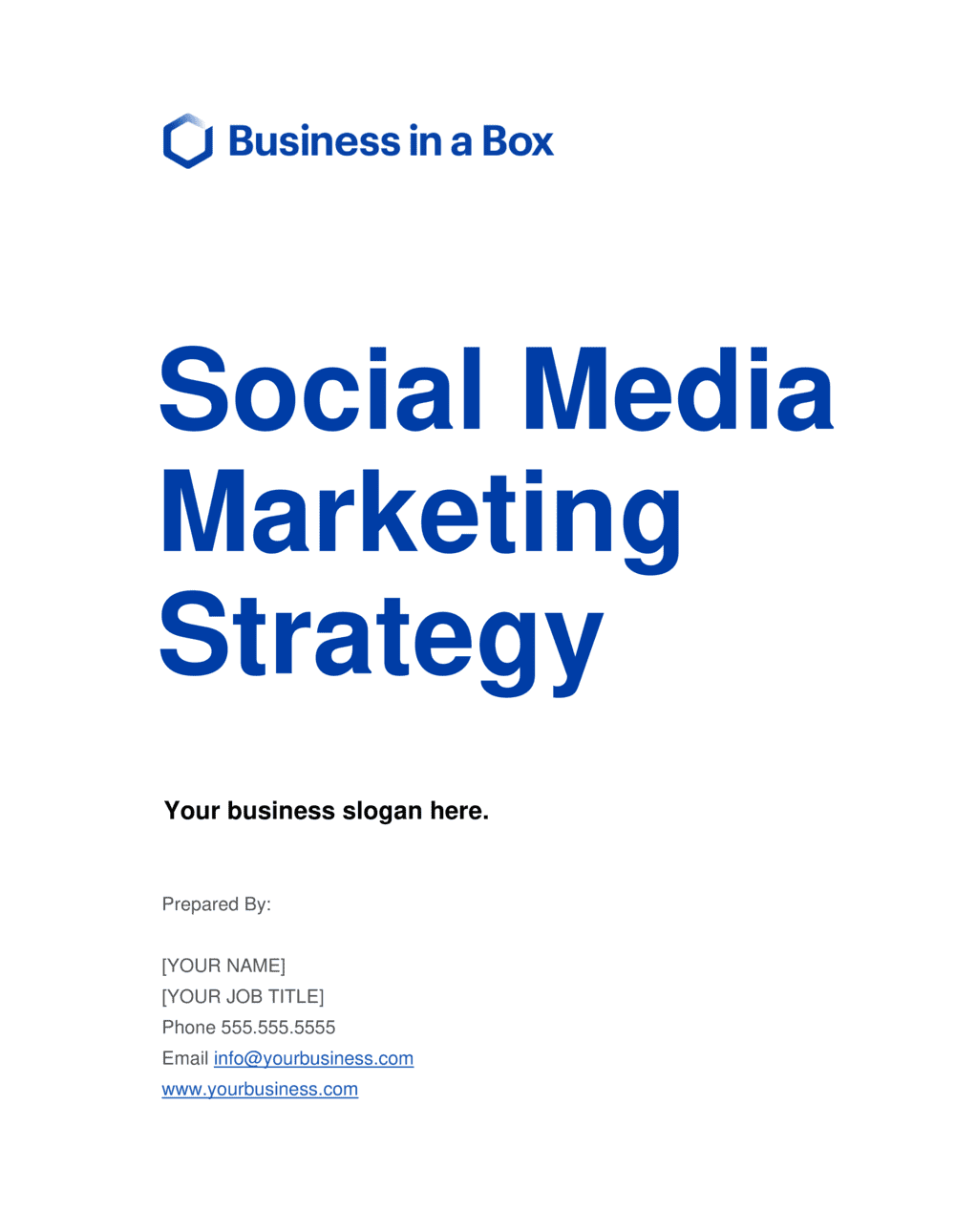 Business-in-a-Box's Social Media Strategy Template