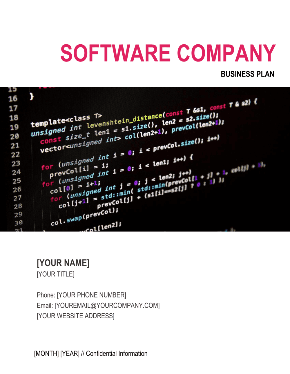 Business-in-a-Box's Software Company Business Plan Template