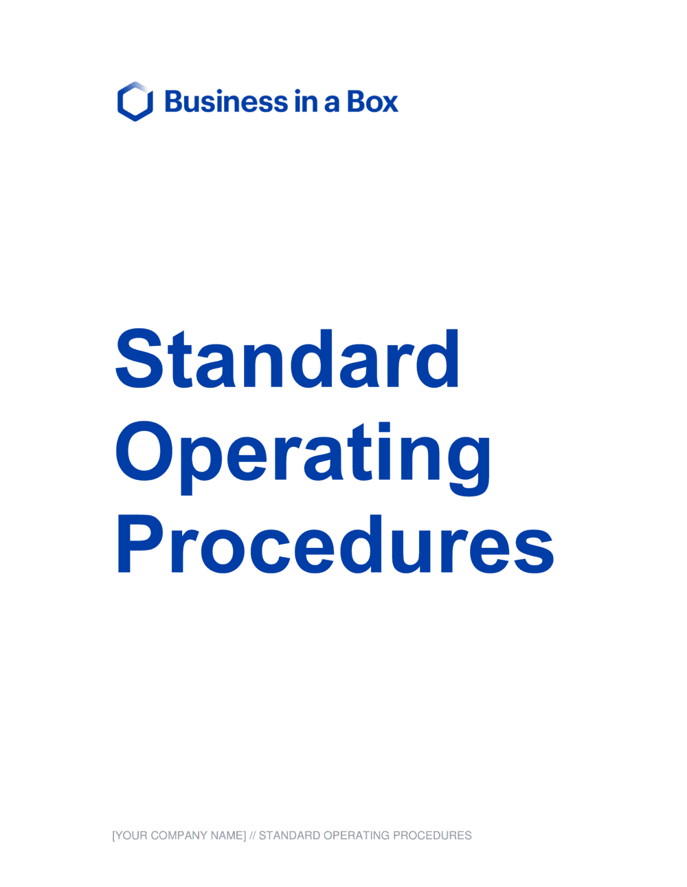 Business-in-a-Box's Standard Operating Procedures Template
