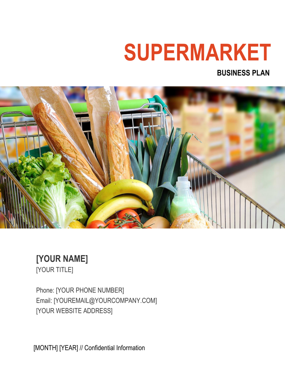 Business-in-a-Box's Supermarket Business Plan Template