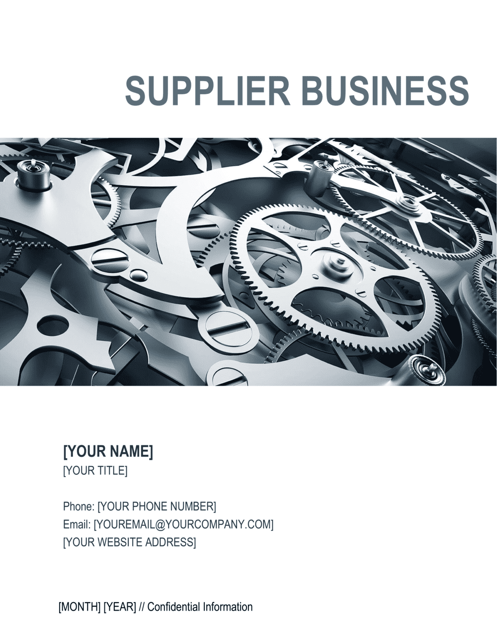 Business-in-a-Box's Supplier Business Plan Template