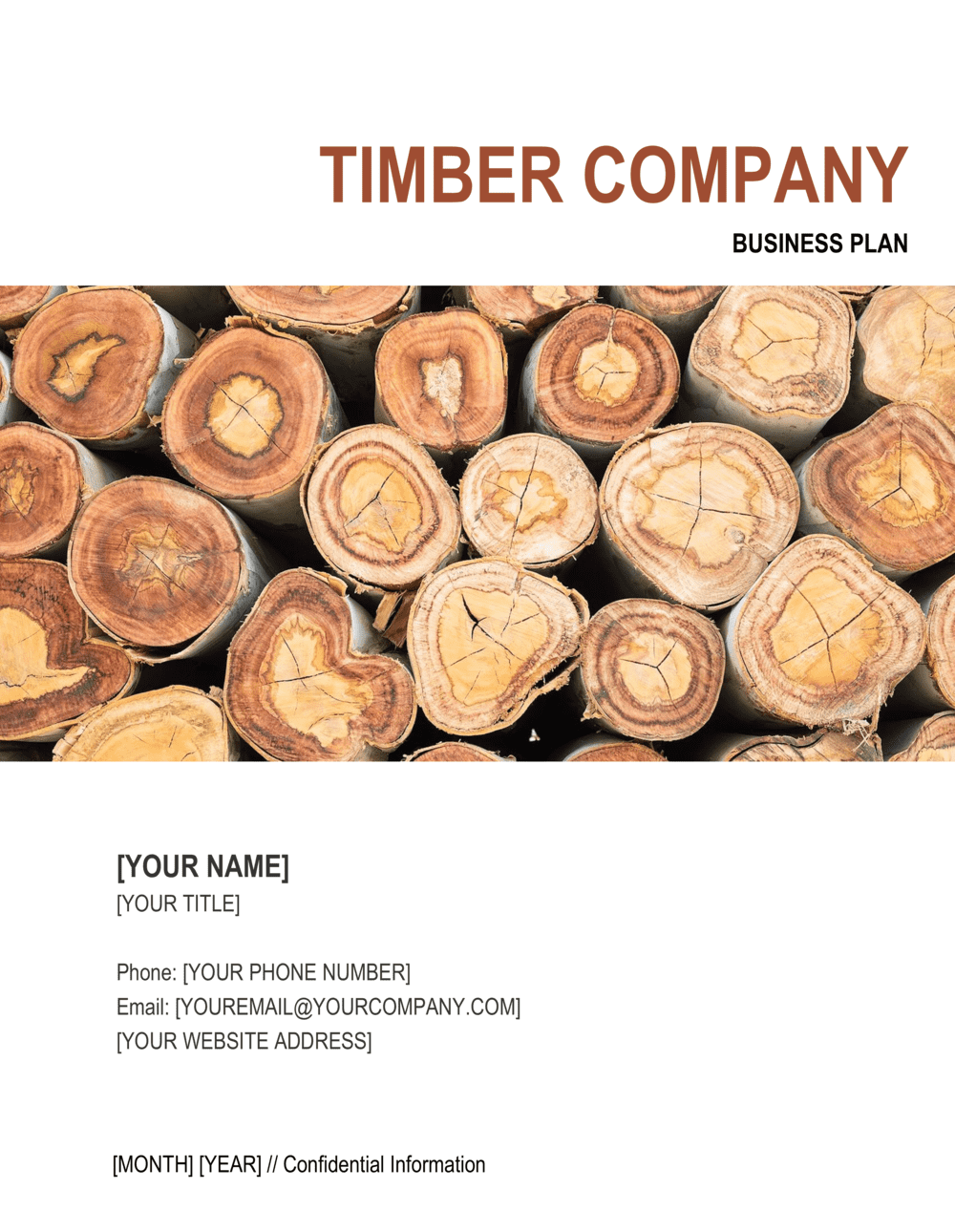 Business-in-a-Box's Timber Company Business Plan Template
