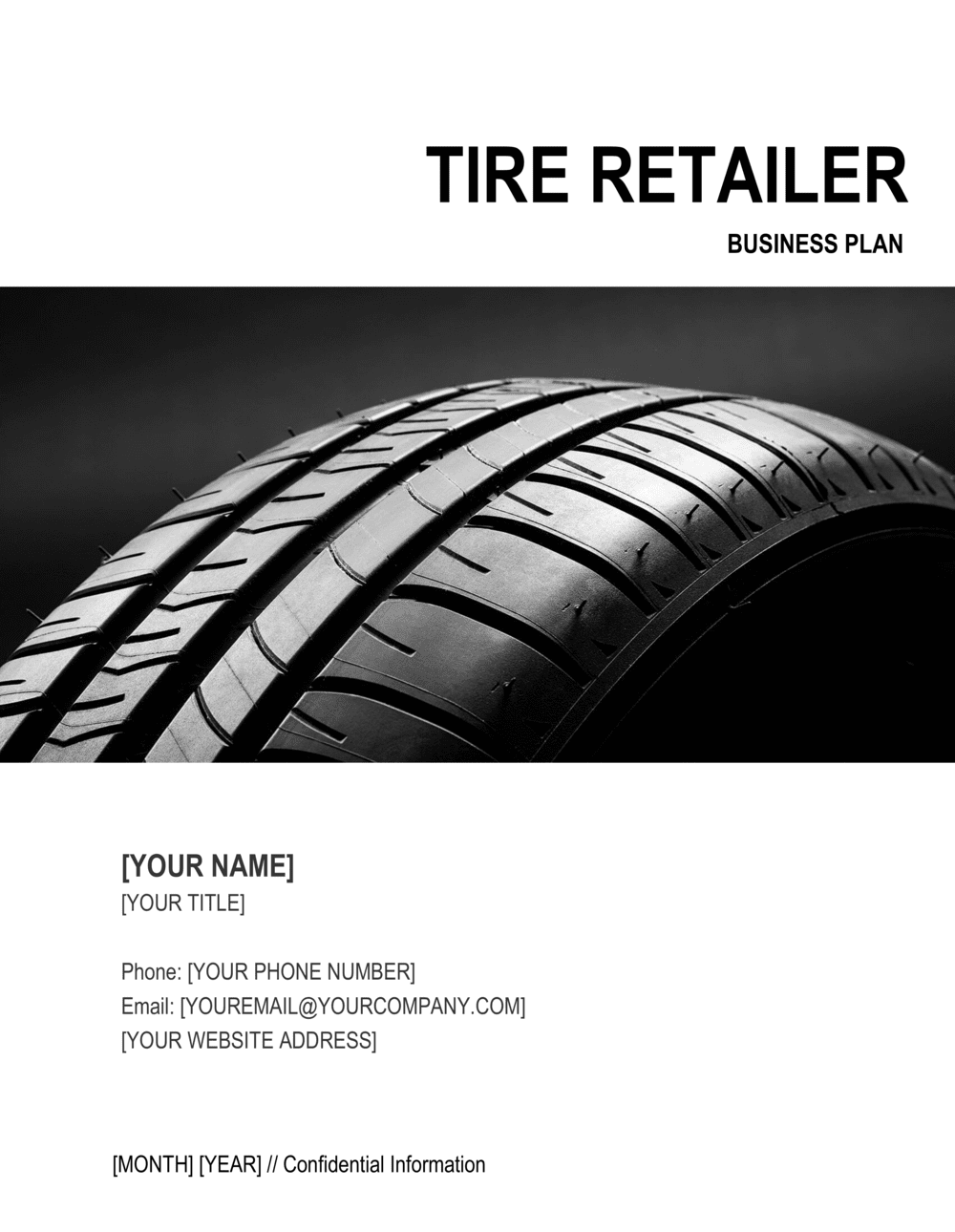 Business-in-a-Box's Tire Retailer Business Plan Template