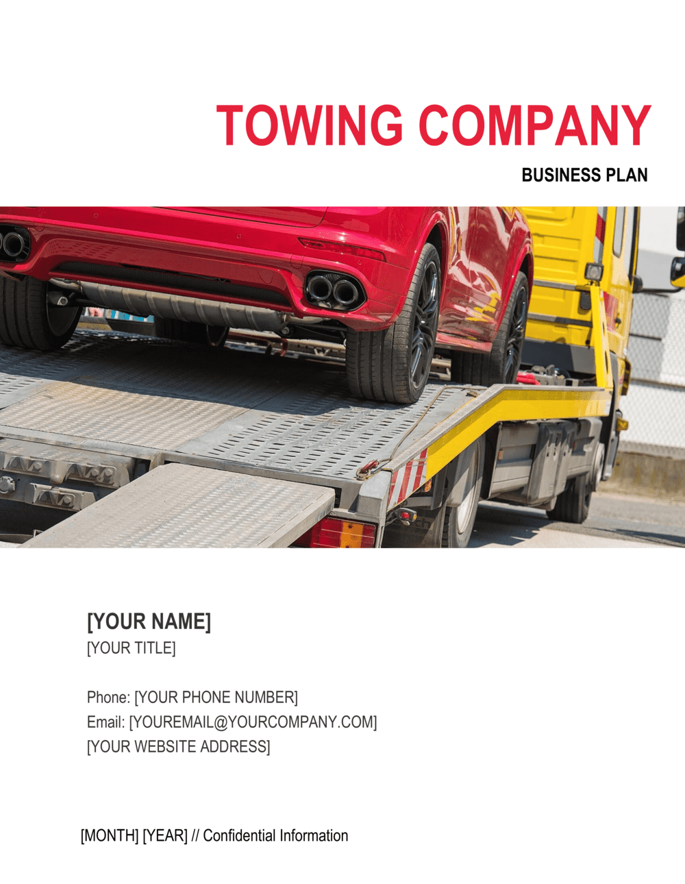 Business-in-a-Box's Towing Company Business Plan Template
