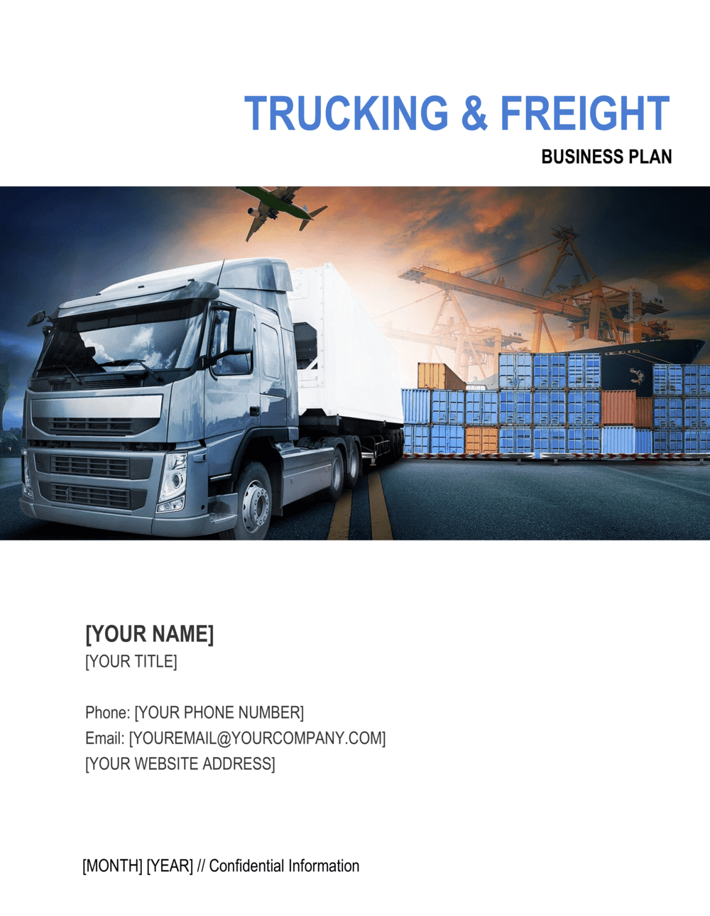 Business-in-a-Box's Trucking and Freight Company Business Plan Template