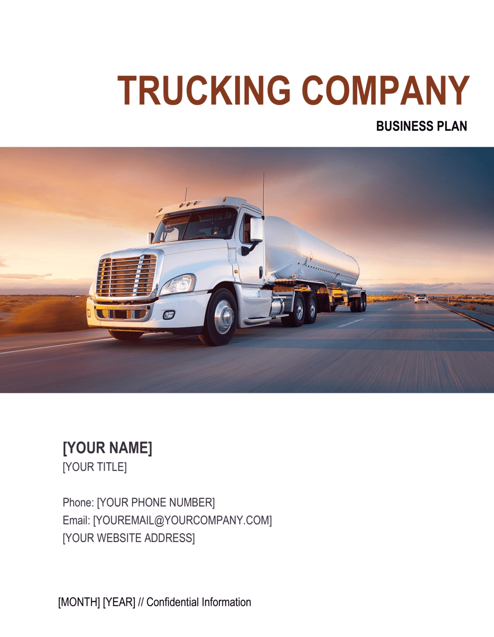 Business-in-a-Box's Trucking Company Business Plan 2 Template