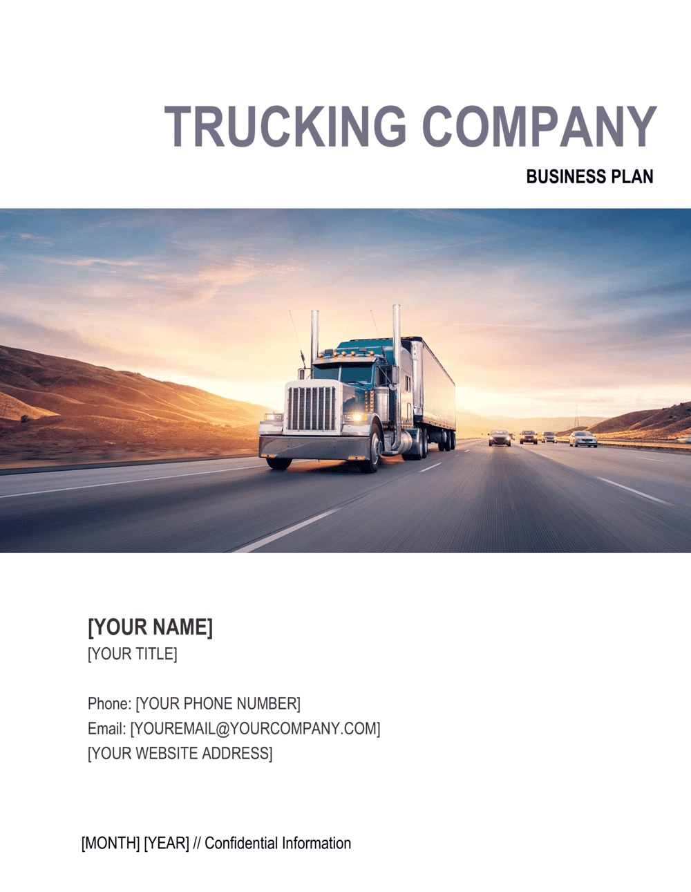 Business-in-a-Box's Trucking Company Business Plan Template