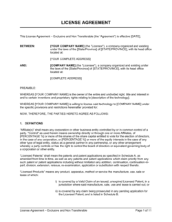 License Agreement Exclusive and Non-Transferable_Right