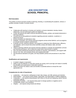School Principal Job Description