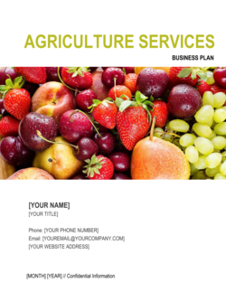 Agriculture Services Business Plan