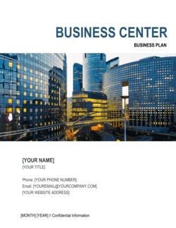 Business Center Business Plan