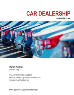 Car Dealership Business Plan 2