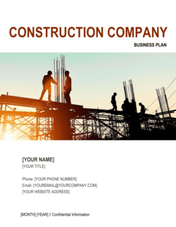 Construction Company Business Plan 2
