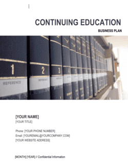 Continuing Education Center Business Plan