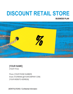 Discount Retail Store Business Plan