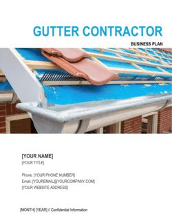 Gutter Contractor Business Plan