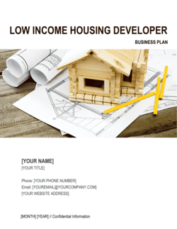Low Income Housing Developer Business Plan