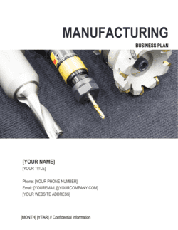 Manufacturing Business Plan 2