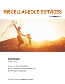 Miscellaneous Services Business Plan