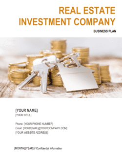 Real Estate Investment Company Business Plan