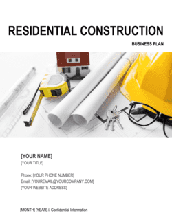Residential Construction Business Plan