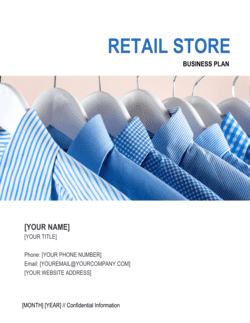 Retail Store Business Plan 2