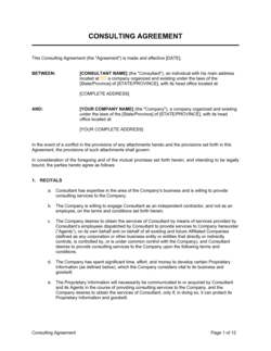Consulting Agreement Long