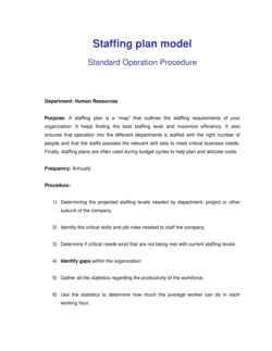 How to Create a Staffing Plan