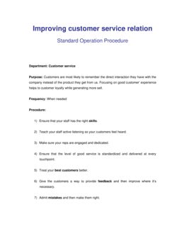 How to Improve Customer Relationship