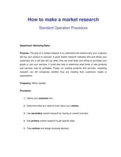 How to Make a Market Research