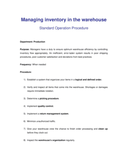 How to Manage Inventory in the Warehouse