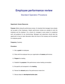 How to Review Employee Performance