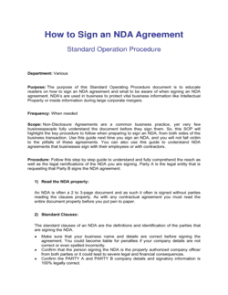 How To Sign An Nda Agreement