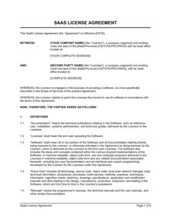 SaaS License Agreement