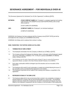 Severance Agreement (over 40)