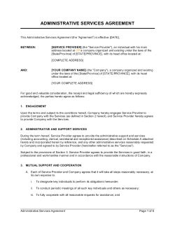 Administrative Services Agreement
