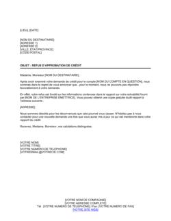 Notification de refus de vente à crédit