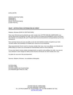 Notification Approbation de nouveau compte de crédit d'achat